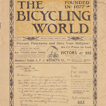 The Bicycling World founded in 1877 - Paper