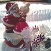 "Mr. and Mrs. Claus Rotating Music Box / Plays ""Jingle Bells"" / Circa 1978"