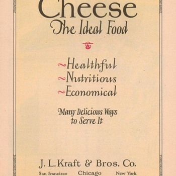 1932 - Kraft Cheese Advertisement - Advertising