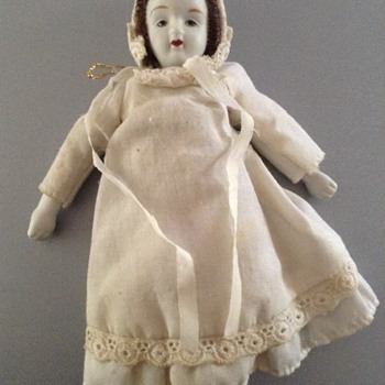 Vintage Porcelain Doll/ Christmas Tree Ornaments