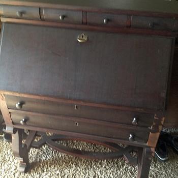 Secretary drop front desk - Furniture