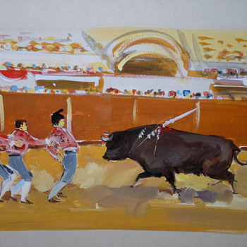 Original Art Of Bullfighters