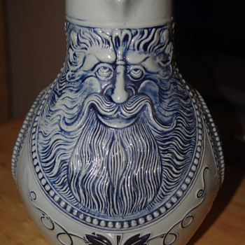 Large Made in Western Germany Stein - Father Christmas - Can't identify mark - help!! :)