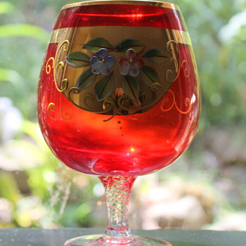 Japanese enameled goblet - Glassware