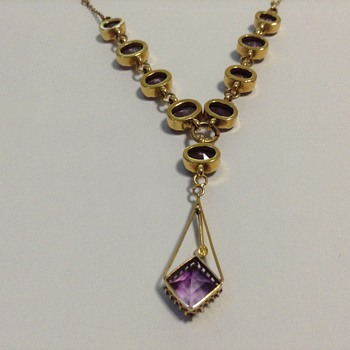 Art Nouveau or Art Deco Amethyst Necklace?