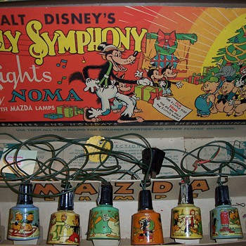 1930's Disney Silly Symphony Lights - Christmas
