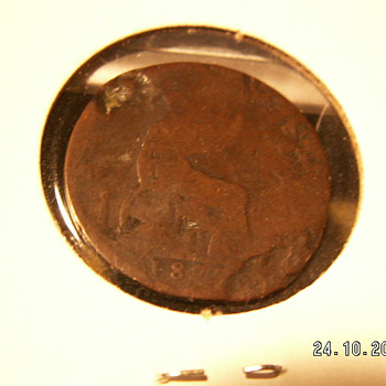 1870 England One Penny - World Coins