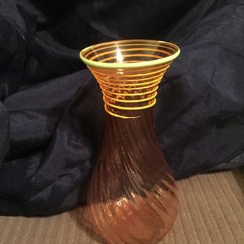 Hand Blown Twist Vase, unknown maker - Art Glass