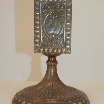 Rare Antique TIFFANY BRONZE and Gold MATCH BOX HOLDER