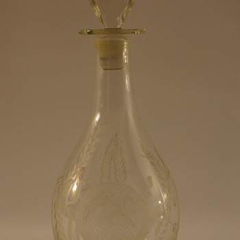 French Early 19th Century Decanter - Art Glass