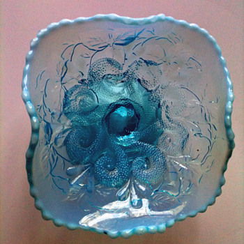 AQUA BLUE COMPOTE 1900&#039;S NORTHWOOD OR DUGAN? - Glassware