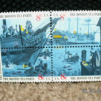 1973 Boston Tea Party Bicentennial Era 8¢ Stamps - Stamps