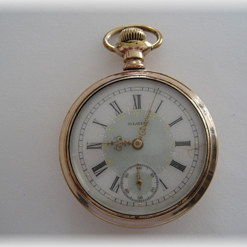 Elgin Pocket Watch with Fancy  Dial - Pocket Watches