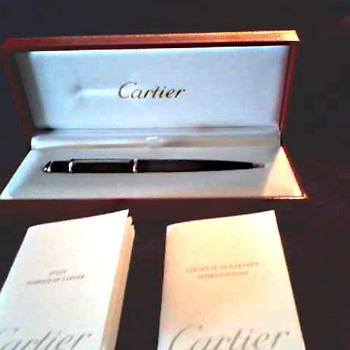 "Cartier ""Diablo"" Ballpoint Pen /Gift Box and Certificates / Circa 21 Century"