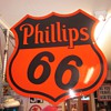 Phillips 66 Porcelain 29 inch Sign Dated 1955