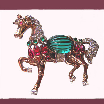 Trifari Mogul Horse  -  From my personal collection - Costume Jewelry