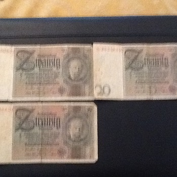 German money from ww2 - Military and Wartime
