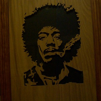 HE SAWED JIMI HENDRIX - Folk Art