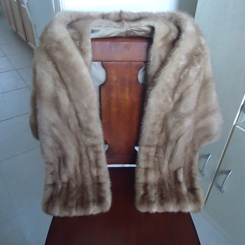 REAL MINK FUR STOLE