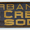 1880's - 1890's Burbanks Ice Cream and Soda Sign