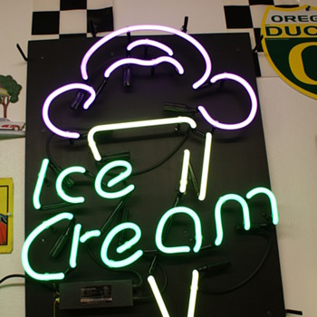 New ice cream neon