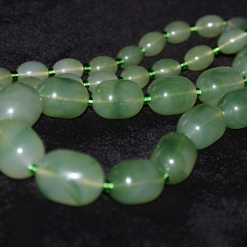 Unusual Plastic/Bakelite Wood Necklace