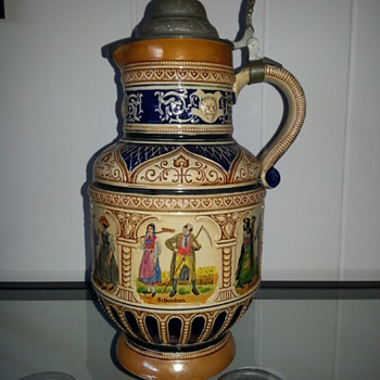 German beer stein pitcher - Breweriana