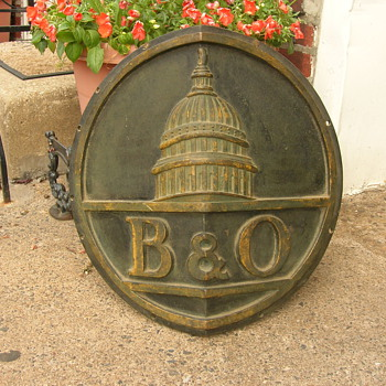 My B&O Train Engine Plaque