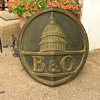 My B&amp;O Train Engine Plaque