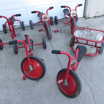 Collection of (5) Lakeshore Tricycles - Toys