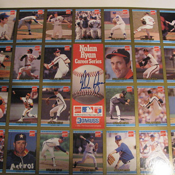 A signed,uncut sheet of Baseball cards by coke!!  - Baseball