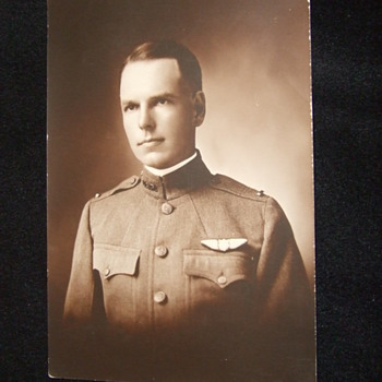 WW1 era Army Pilot with wings - Photographs