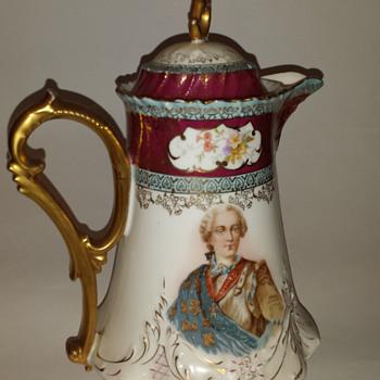 Carl Tielsch? Porcelain chocolate pot