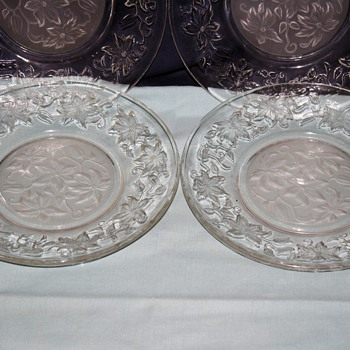 beautiful cut glass plates! - Glassware