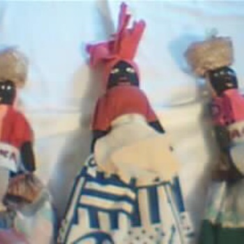 Mother & Daughters Jamaican Dolls .Real Ivory Earrings . - Dolls