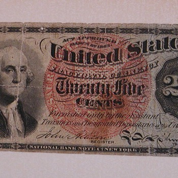 Paper 25 cents - US Paper Money
