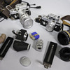 2 old Leica cameras with gear