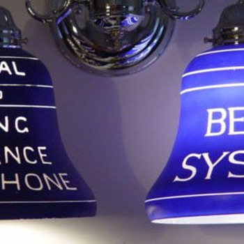Bell System &amp; Local Long Distance Lamp Shades - Telephones