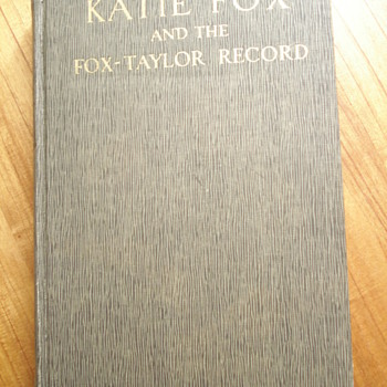 Katie Fox And The Fox-Taylor Record by W. G. Langworthy Taylor - Books