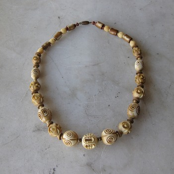 Newest find - celluloid necklace - Redo to 1930's style