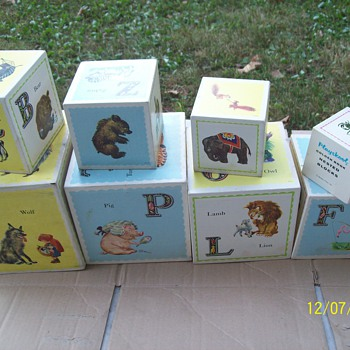 Vintage wooden Playskool Nested Blocks - Toys
