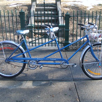 my 1964  schwinn  tandem  bicycle  