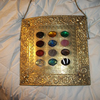 vintage breast plate with the 12 stones (families) - Accessories