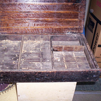 wooden specimen case - Furniture