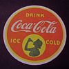Silhouette Girl Coca Cola coaster 1939 to 1941