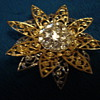 Unsigned Flower Brooch