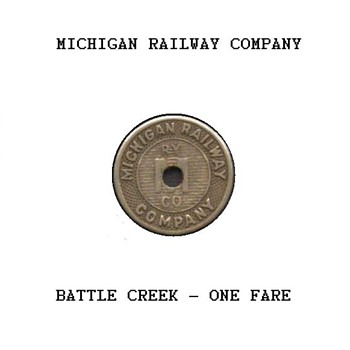 1920's - Michigan Railway Company Token - US Coins