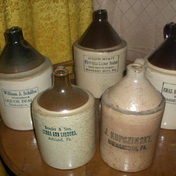 PA. &quot;Coal Region&quot; Jugs