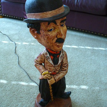 Charlie Chaplin ESCO Statue and Lamp