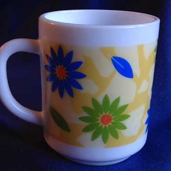 R.A.K milk glass mug made in UAE - Glassware